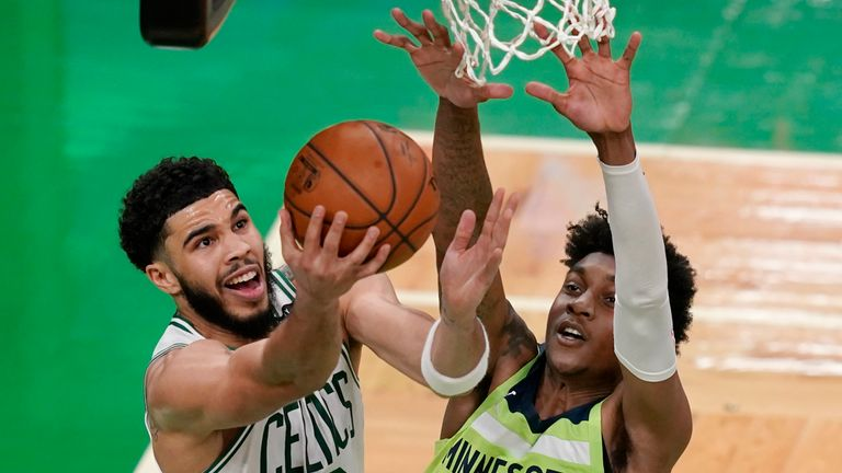 Minnesota Timberwolves up against the Boston Celtics in Week 16 of the NBA.