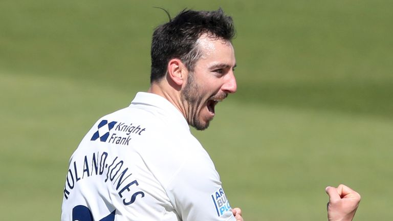 Toby Roland-Jones' four wickets included Hashim Amla, who was out lbw for a golden duck on day two at Lord's
