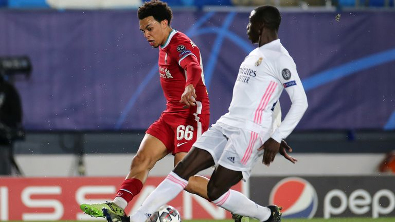 Trent Alexander-Arnold had a tough night up against Ferland Mendy
