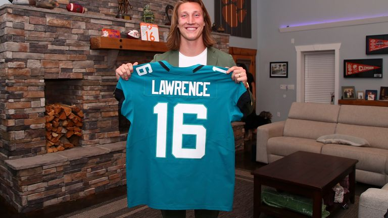 Trevor Lawrence will play in Jacksonville after being selected first by the Jaguars in the 2021 NFL Draft. (Logan Bowles/NFL via AP)