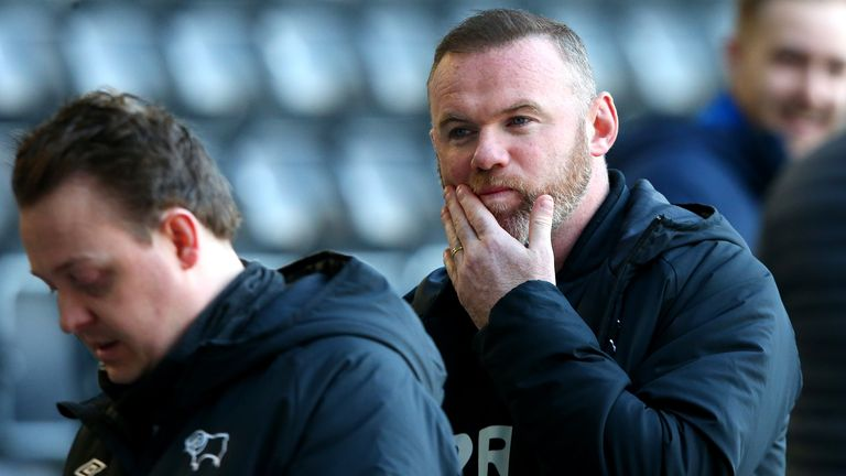Wayne Rooney saw his Derby County side lose 2-1 at home against Birmingham