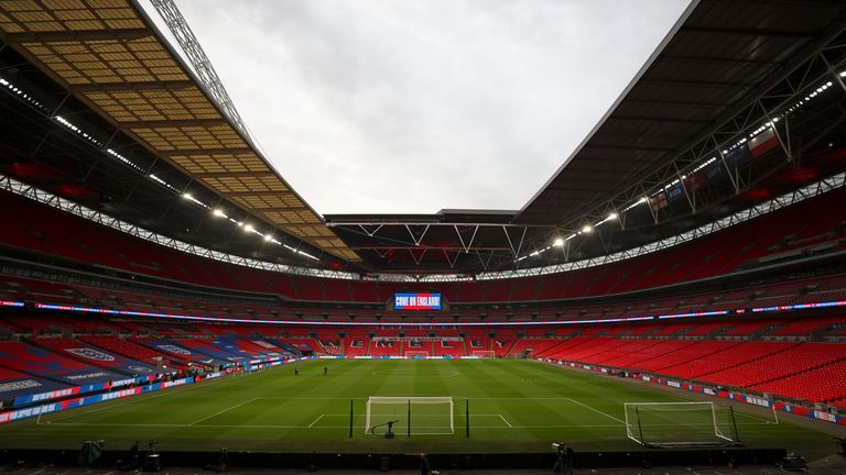 Fans are set to return to Wembley in limited numbers later in April