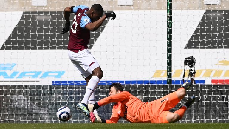 West Ham United's Issa Diop scores an own goal against Newcastle