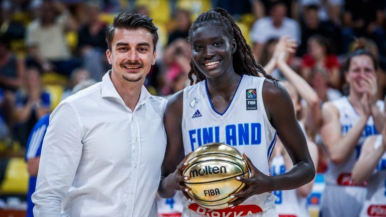 Awak Kuier is awarded MVP of Europe u18 Division B in 2019. Source: FIBA