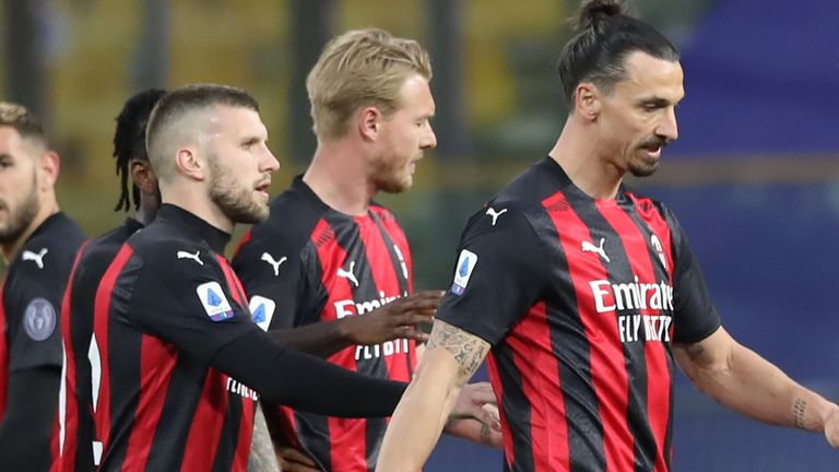 Zlatan Ibrahimovic was sent off for AC Milan on Saturday