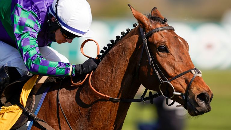 Tom O'Brien riding Thyme Hill to victory at Aintree