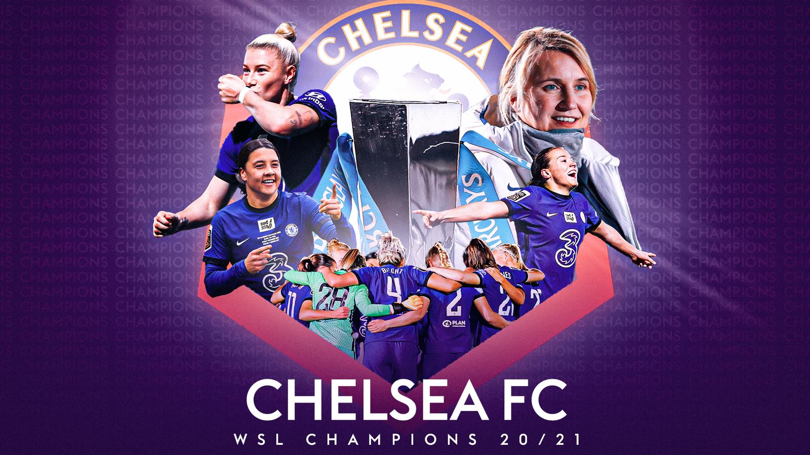 Chelsea Women win 2020/21 Women's Super League title with Man City Women second, Bristol City Women relegated