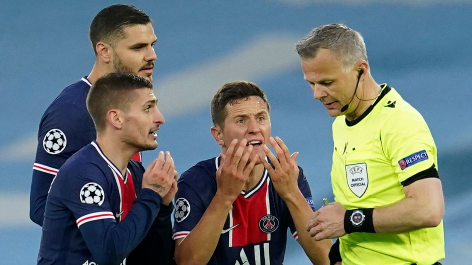 Mauricio Pochettino suggests UEFA investigation into PSG players' claim referee Bjorn Kuipers swore at them during Man City defeat