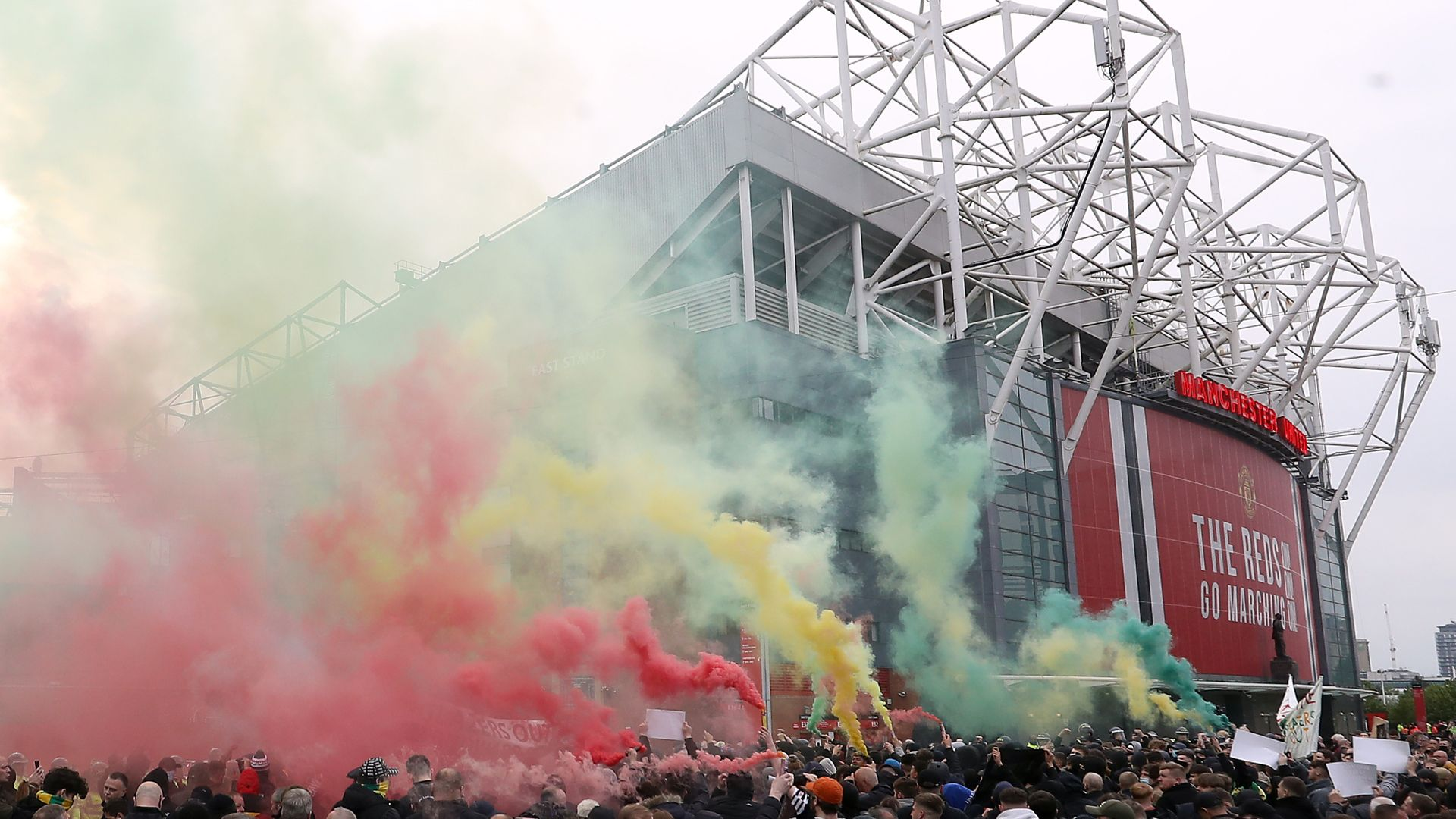 Two arrests made after fresh protests at Old Trafford
