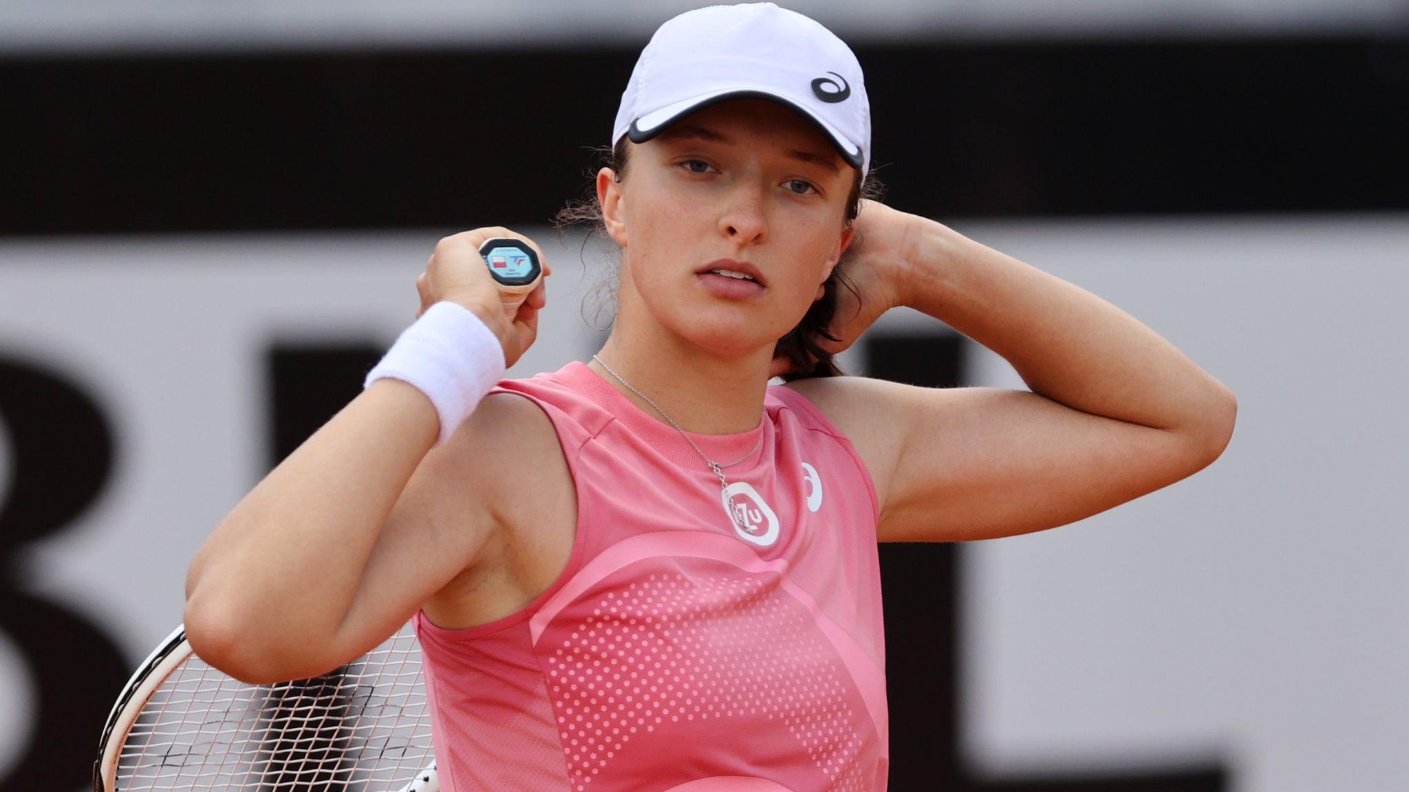 French Open champion Iga Swiatek wins twice in a day to set up Rome final  with Karolina Pliskova   Tennis News   Sky Sports