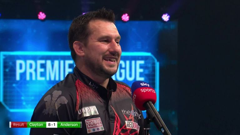 Jonny Clayton was delighted to secure a 8-1 victory over Gary Anderson in front of the fans in Milton Keynes