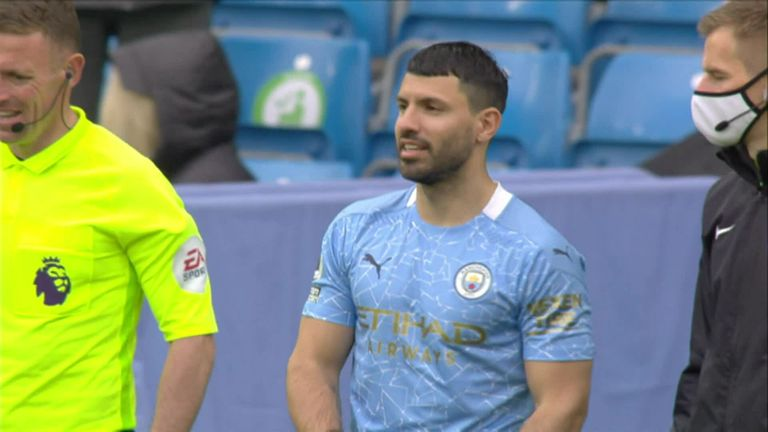 The Manchester City supporters expressed their gratitude to Aguero as the striker made his final appearance for the club