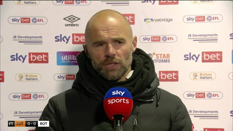 Luton Town 0-0 Rotherham: Paul Warne's Millers retain hopes of Championship survival after stalemate