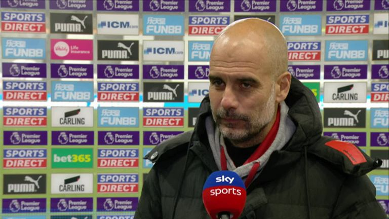 Following his hat-trick against Newcastle, Manchester City boss Pep Guardiola says Ferran Torres' movement, anticipation and finishing mean he can play as a striker for his side