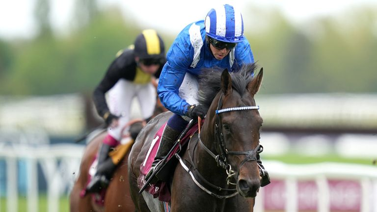 Al Aasy ridden by Jim Crowley winsThe Al Rayyan Stakes during Al Shaqab Lockinge Day at Newbury Racecourse. Picture date: Saturday May 15, 2021.