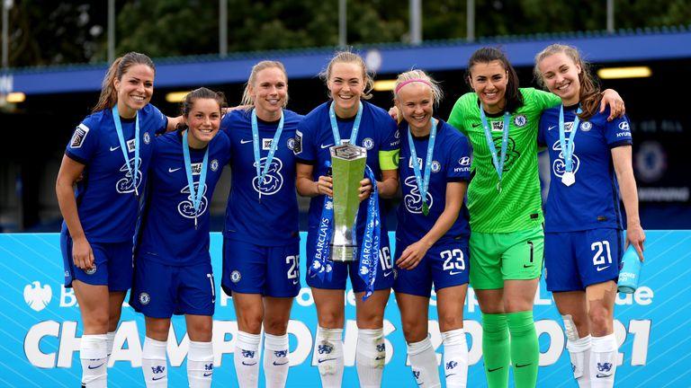 PA - Chelsea Women celebrate WSL title