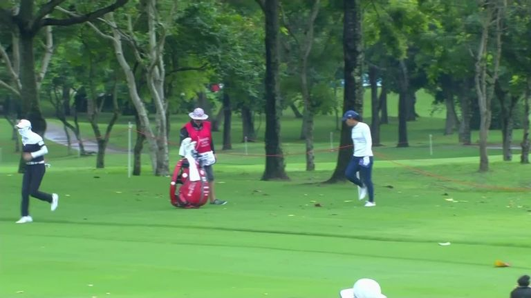 LPGA Tour golfer Hyo Joo Kim had to fight off an attack from fire ants during the opening round of the Honda LPGA Thailand.