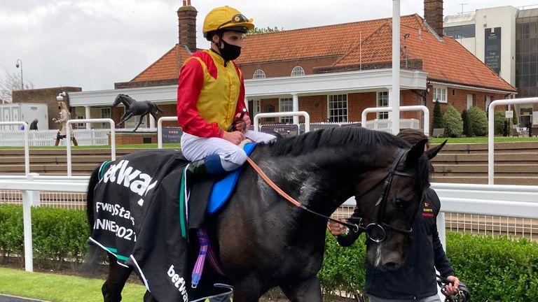 John Leeper after his Newmarket win