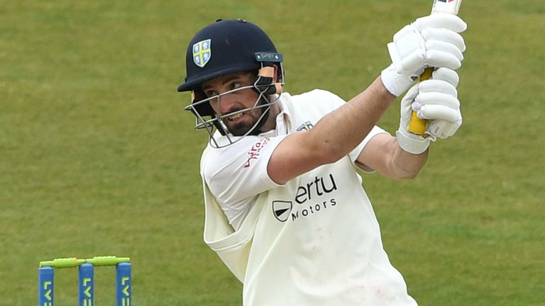 Ned Eckersley top-scored for Durham with 82 in their drawn game against Derbyshire