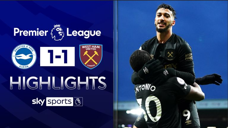 FREE TO WATCH: Highlights from Brighton's draw with West Ham in the Premier League