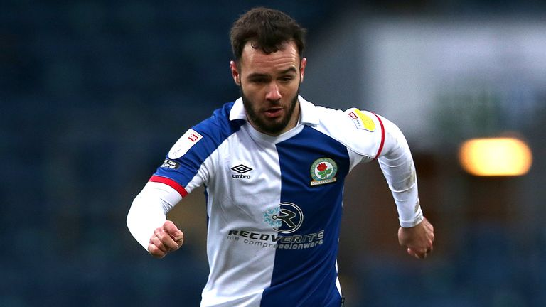Blackburn Rovers' Adam Armstrong in action