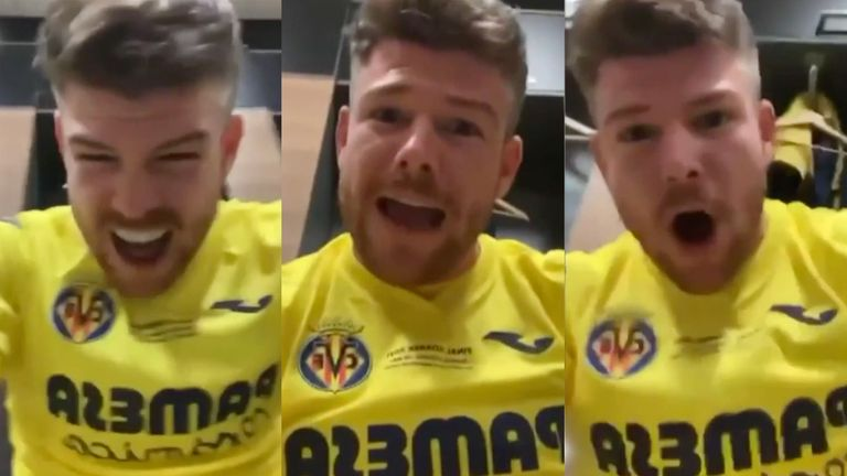 Villarreal defender Alberto Moreno mocked Manchester United as he sent a message to Liverpool fans after the Europa League final