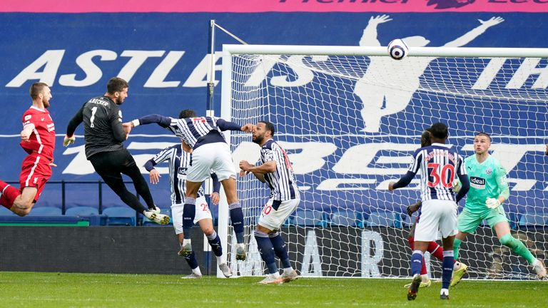 Liverpool goalkeeper Alisson scores a stoppage-time winner at The Hawthorns