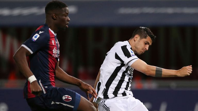 Alvaro Morata a marqué alors que la Juventus assurait le football de la Ligue des champions