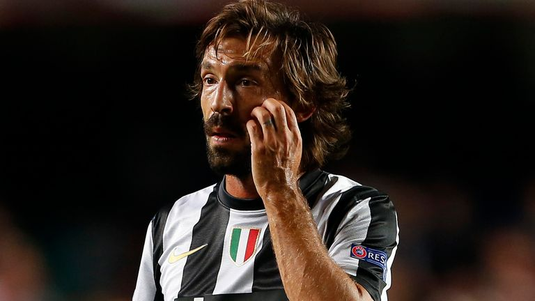 Andrea Pirlo played 164 times for Juventus from 2012 to 2015 and helped them towards four Serie A titles