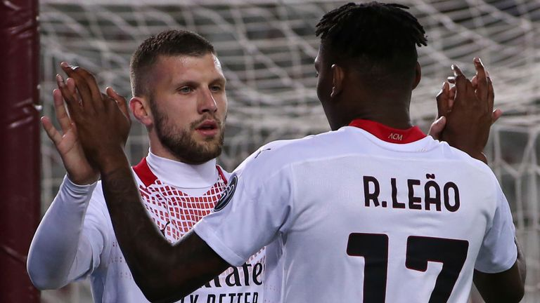 Ante Rebic netted a hat-trick in AC Milan's big victory
