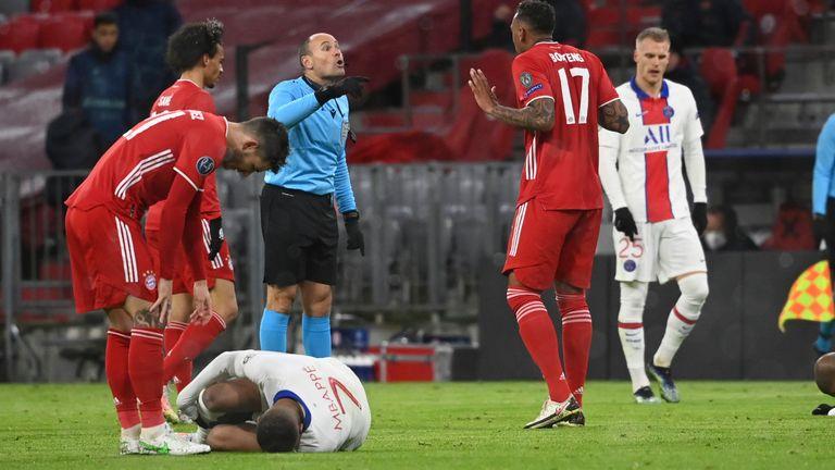 Antonio Mateu Lahoz officiated PSG's Champions League quarter-final match at Bayern Munich this season