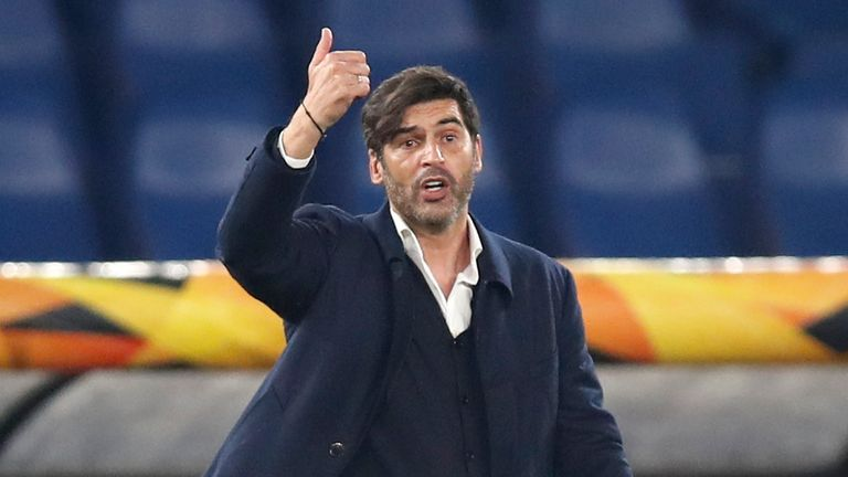 AP - Roma's head coach Paulo Fonseca