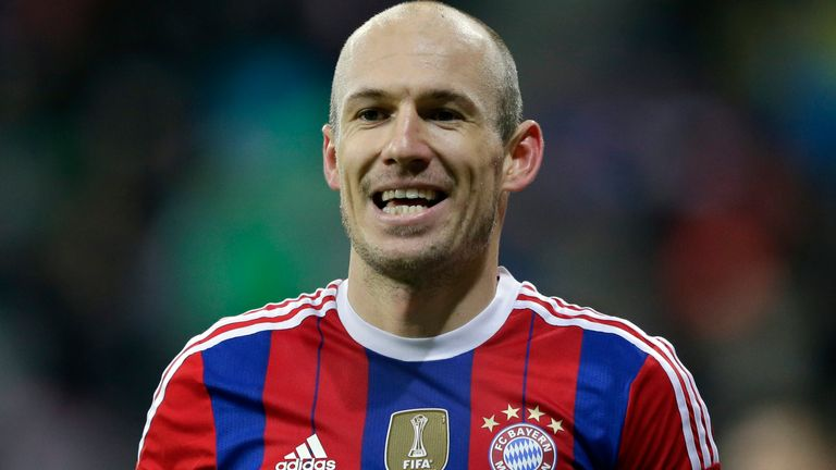 Robben has won the Champions League and league titles in England, Germany, the Netherlands and Spain during his illustrious career