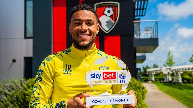 Bournemouth winger Arnaut Danjuma has won the Sky Bet Championship Goal of the Month award for April