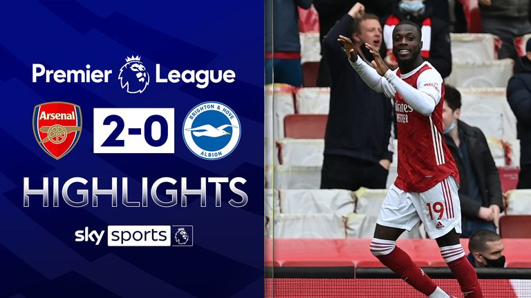 Arsenal v Brighton highlights
