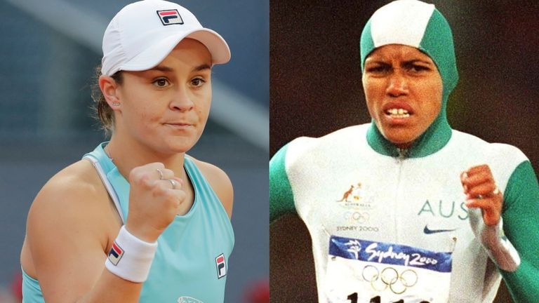 Ashleigh Barty has been inspired by Cathy Freeman's gold-winning sprint at the Sydney Olympics in 2000