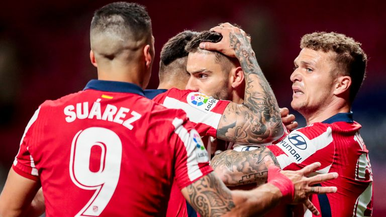 Atletico Madrid are four points clear at the top of La Liga with two games to play