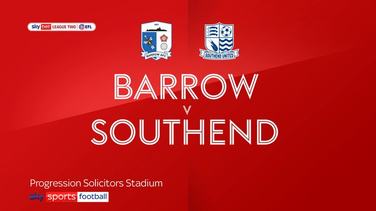 Barrow v Southend