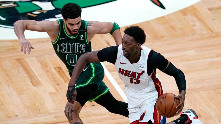 Miami beat Boston to seal their spot in this season's NBA playoffs.