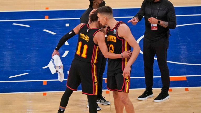 Trae Young scored the epic game winner with less than one second to go as Atlanta came out on top in New York.