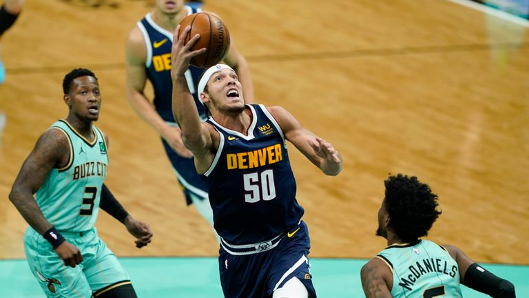 Highlights of the Denver Nuggets against the Charlotte Hornets in Week 21 of the NBA.