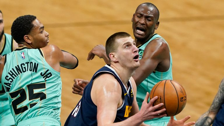 Nikola Jokic impressed once again as he scored 30 points in Denver's hard-fought win over Charlotte.