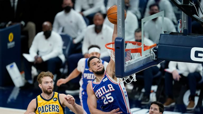 Highlights of the Philadelphia 76ers against the Indiana Pacers in Week 21 of the NBA.