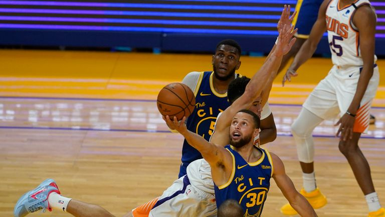 Highlights of the Phoenix Suns against the Golden State Warriors in Week 21 of the NBA.