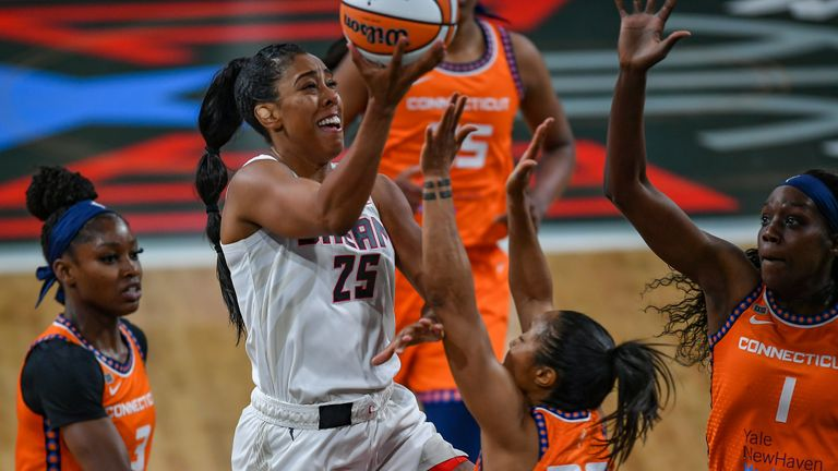 Highlights from the WNBA regular season game between the Connecticut Sun and the Atlanta Dream on opening night.
