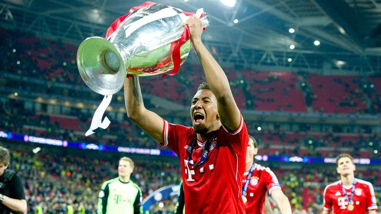 Bayern Munich's Jerome Boateng celebrates winning the 2013 Champions League final at Wembley