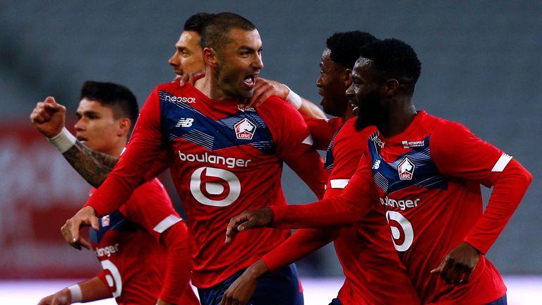 Burak Yilmaz scored twice as Lille beat Lens