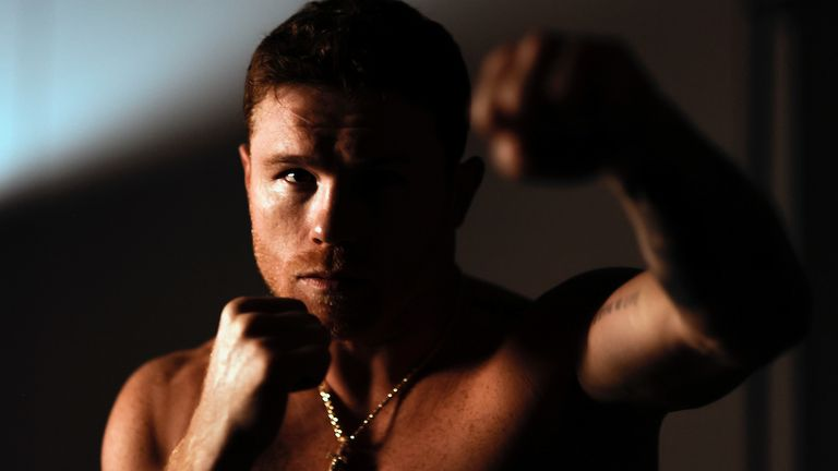 May 5th, 2020; Arlington, TX, USA; Canelo Alvarez takes part in media day on May 5th, ahead of a Matchroom Boxing USA card at AT&T Stadium.  Mandatory Credit: Michael Owens/Matchroom.