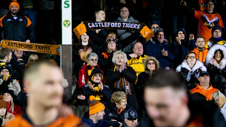 Supporters will be back at Super League games, albeit in limited numbers, from May 17
