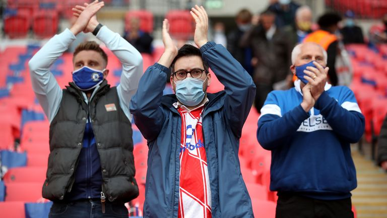 Following Saturday's successful FA Cup final test event, which saw 21,000 in attendance for Leicester's Wembley victory over Chelsea, two Sky Bet Championship clubs will see the return of fans